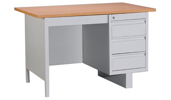 Single Pedestal Desk with Chipboard Top Image