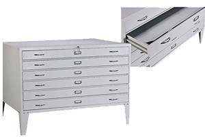 horizontal plan file cabinet icon