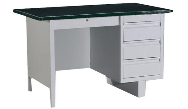 Single Pedestal Desk with Linoleum Top Image