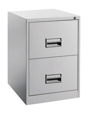 2 Drawers Filling Cabinet with Recess Handle Image