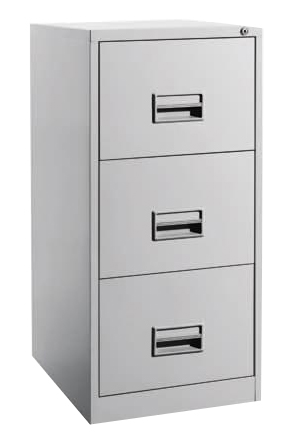 3 Drawers Filling Cabinet with Recess Handle Image