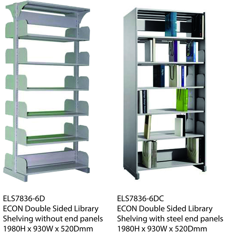 ECON Double Sided Library Shelving Image