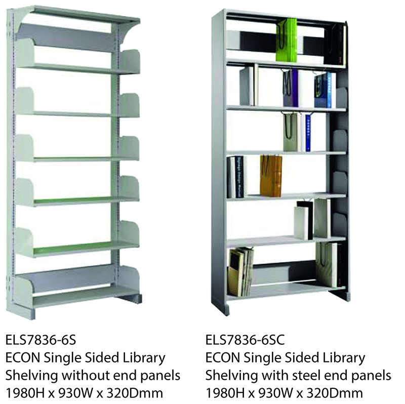 ECON Single Sided Library Shelving Image