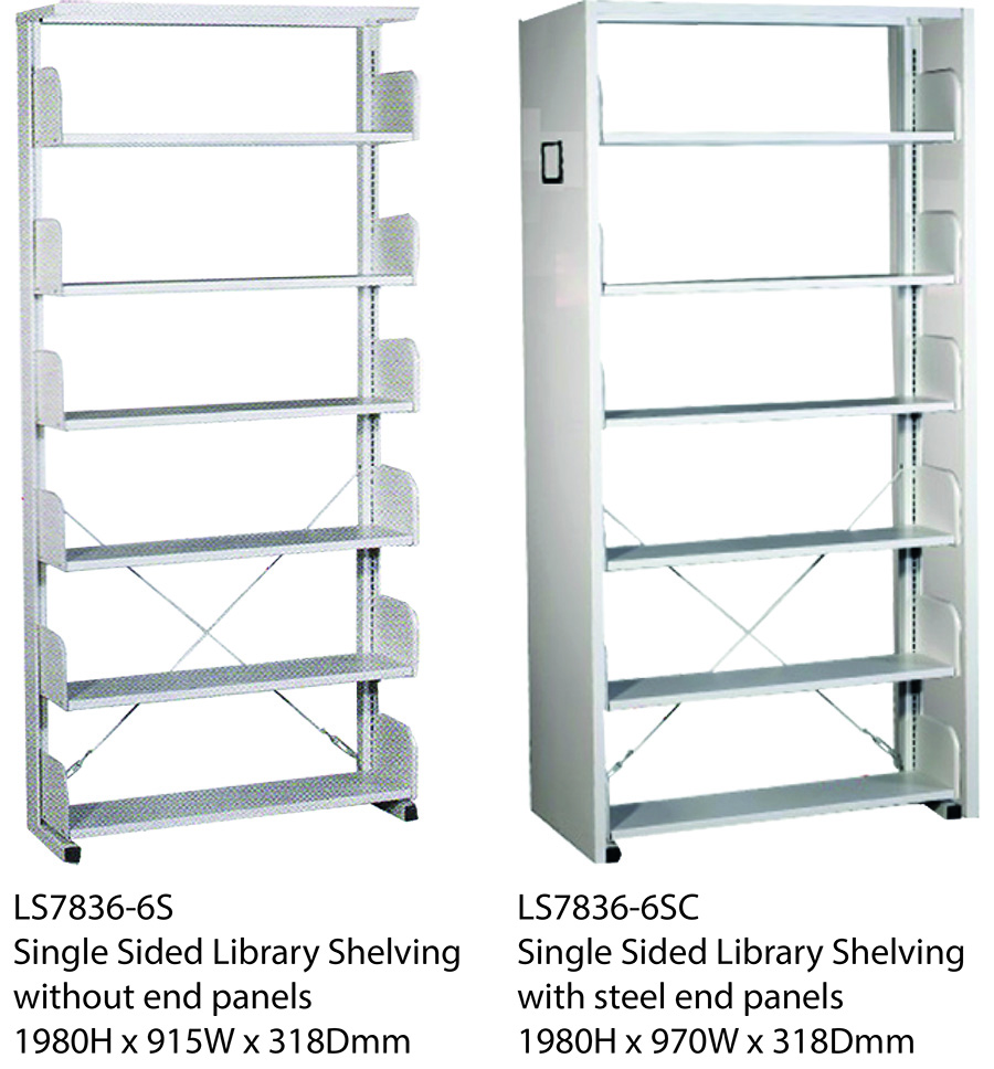 Single Sided Library Shelving Image