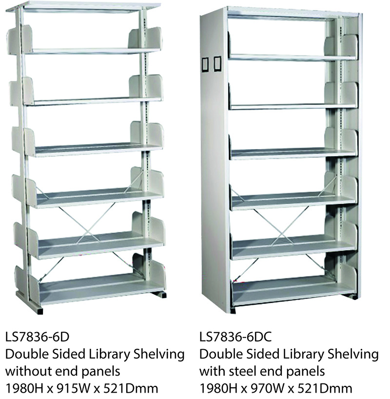 Double Sided Library Shelving Image