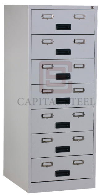7 Drawers Card Record Cabinet Image
