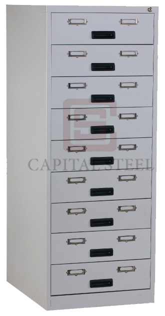 9 Drawers Card Record Cabinet Image