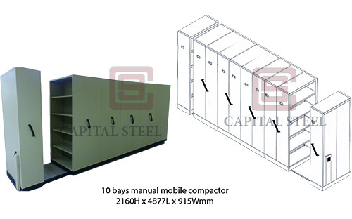 10 Bays Manual Mobile Compactor Image