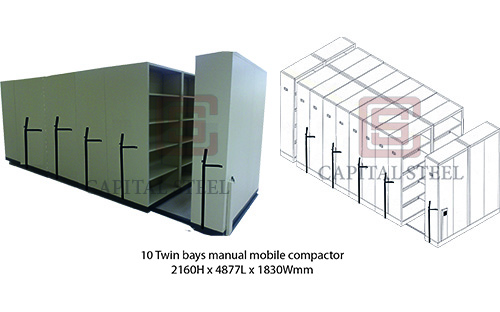 10 Twin Bays Manual Mobile Compactor Image