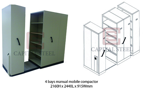 4 Bays Manual Mobile Compactor Image