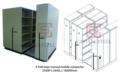 4 Twin Bay Manual Mobile Compactor Image