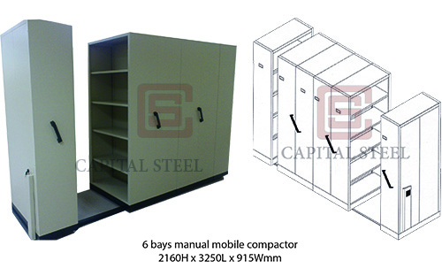 6 Bays Manual Mobile Compactor Image