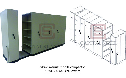 8 Bays Manual Mobile Compactor Image